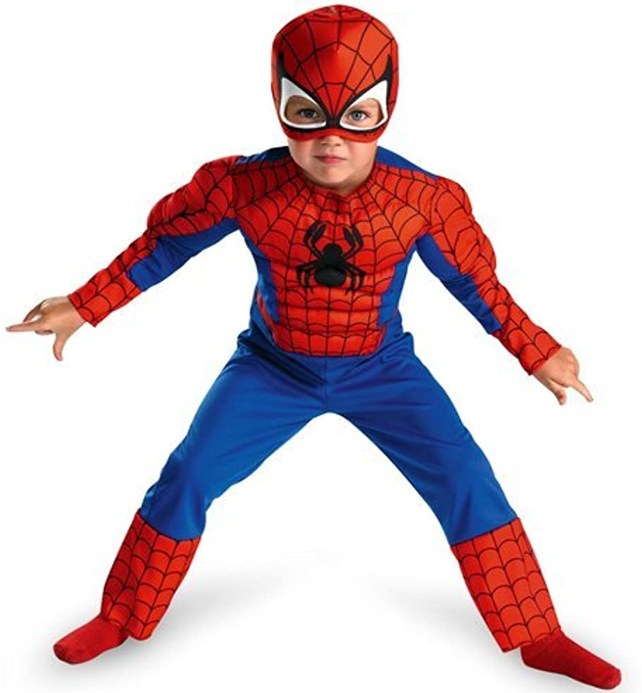 Disfraz de Spiderman para niños - 2 piezas – Rojo, Azul – Talla L ...