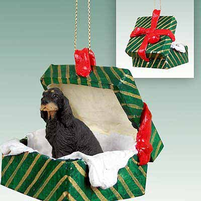 Conversation Concepts Gordon Setter Gift Box Green Ornament