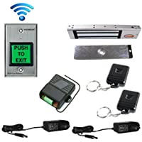 FPC-5178 One door Access Control outswinging door 300lbs Electromagnetic lock with Seco-Larm Wireless Remote and Seco-Larm Wireless SD-8202GT-PEQ kit
