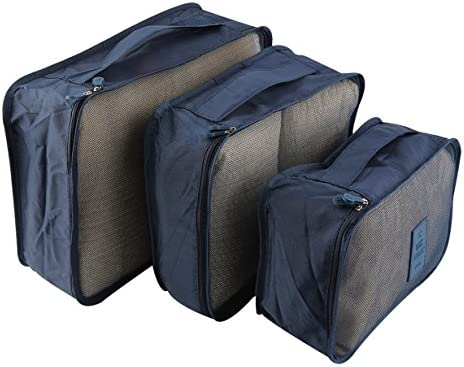 Unitedheart 6 Teile/Satz Tragbare Wasserdichte Kleidung Aufbewahrungstasche Verpackung Cube Reisegepäck Organizer Durable Kleidung Socke BH Aufbewahrungstasche