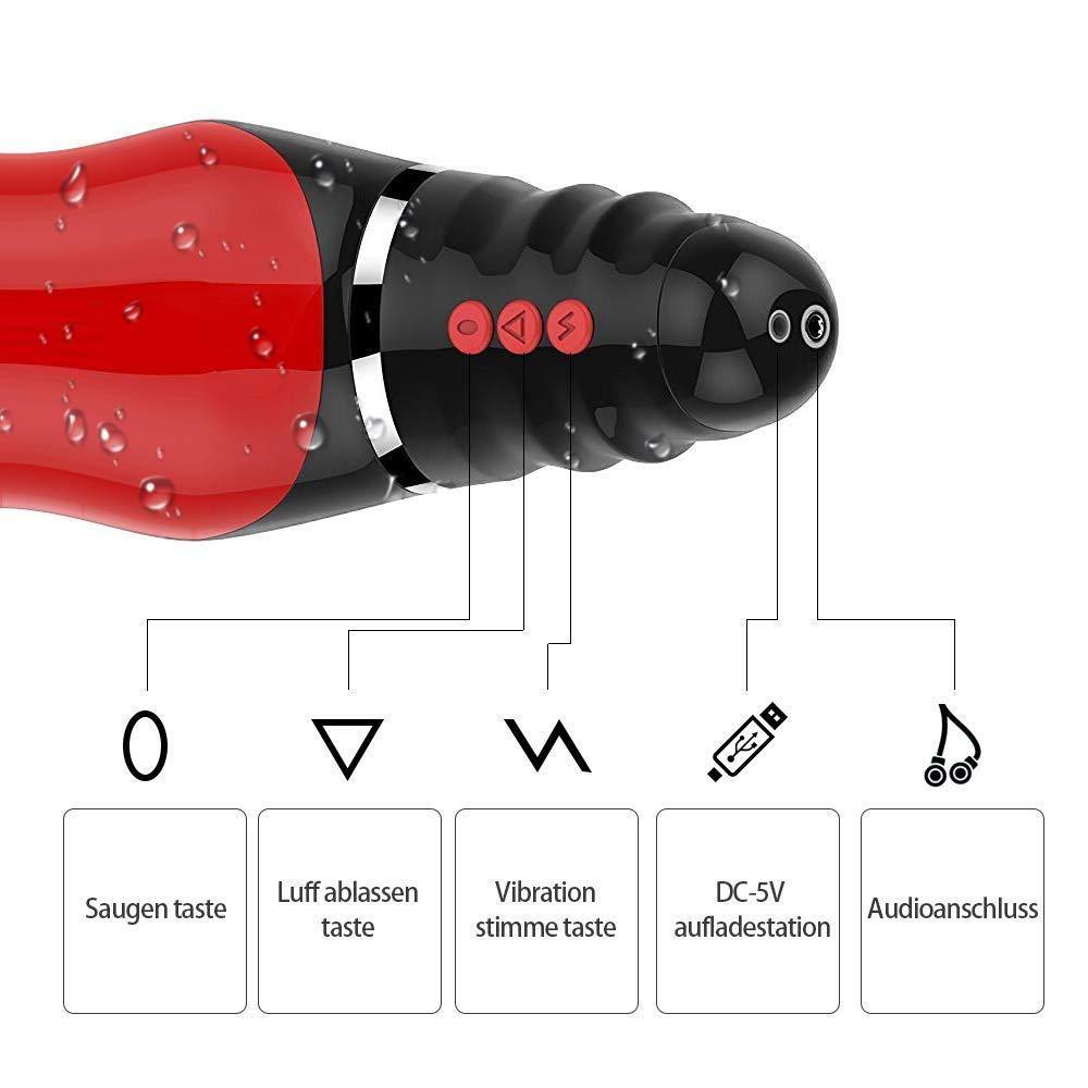YXIAOL Masturbación Automática Vibrador Eléctrico Juguete Masculina Sexual Masturbación Masculina Juguete 10 Modo Vibrante Oral Oral Taza Masculina con Cable USB,362vibrationheatingvocal d59c63