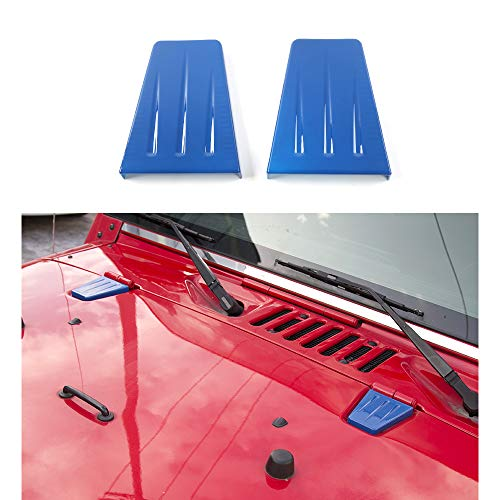 Front Engine Hood Hinge Cover for Jeep Wrangler JK & JKU Unlimited 2007-2018 (Blue)