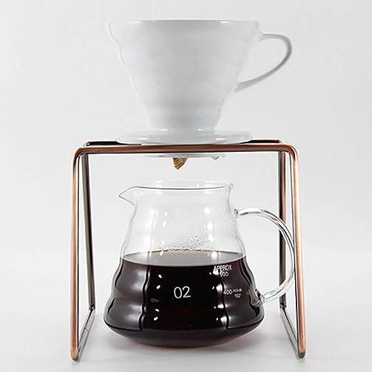 Cafetera de goteo geométrico, soporte de filtro de acero ...