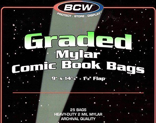 25 BCW Graded Mylar Comic Book Bags - Lasts Indefinitely