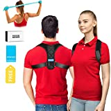 Upper Back Brace Posture Corrector for Men and Women, Shoulder Brace Clavicle Support Device, Adjustable Slouching Support - Kyphosis Brace - Muscle Pain Reliever SIZE, L 28-35Inch