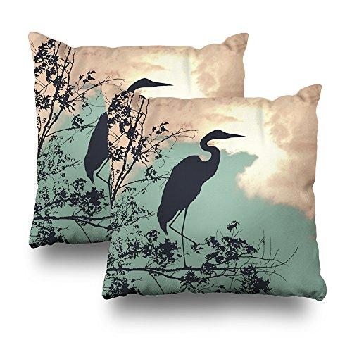 Case Heron Blue - Soopat Decorative Pillows Covers 18