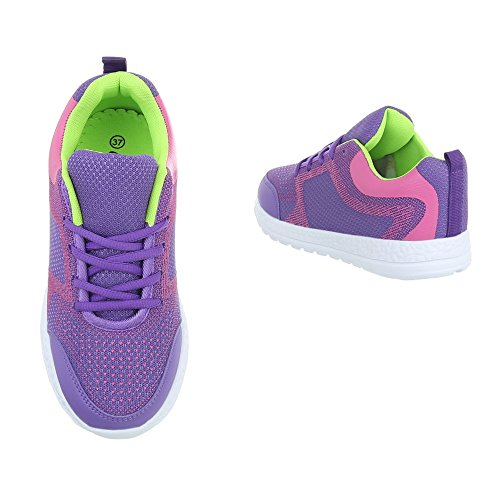 Plano Ital Design Zapatillas para Morado Zapatos EL20009 mujer Zapatillas altas 4wtUtPYq