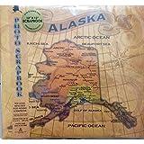 12x12 Alaska State Antique Map Photo Scrapbook Top Load Refillable