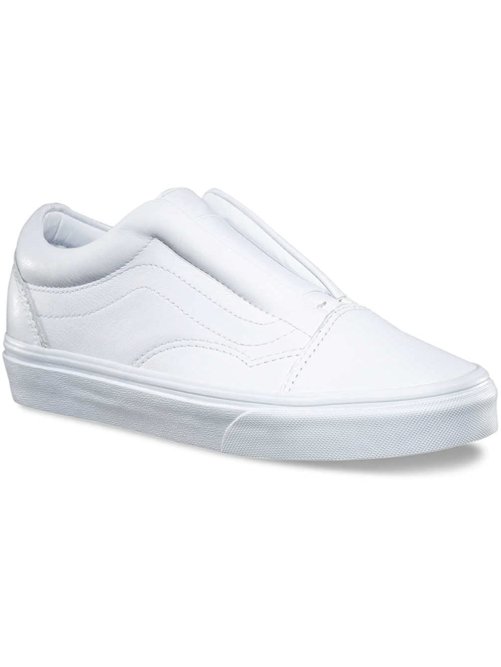 808e4f8783a5 Vans Women s Ua Old Skool Laceless Dx True White Leather 6.5 Women   5 Men  M US  Buy Online at Low Prices in India - Amazon.in