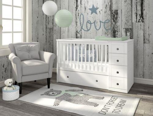 Bellamy babyzimmer kinderbett babybett gitterbett weiß möbel paso