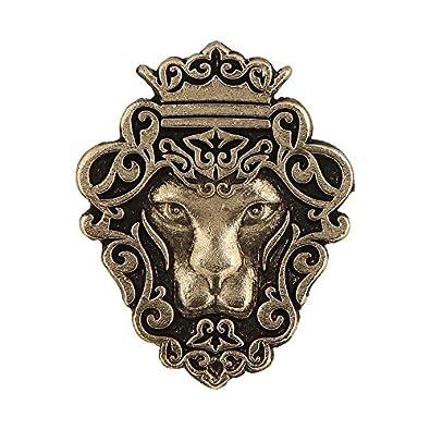 4e9265ca3775 Tripin Gold Lion Shaped Lapel Pin Brooch For Men: Amazon.in: Jewellery