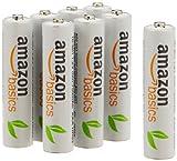 Amazonベーシック 充電式ニッケル水素電池 単4形8個パック (最小容量750mAh、約1000回使用可能) -