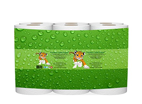 Bath Tissue - Purrrfect Toilet Paper - 24 Pack Bathroom Tissue - 2 Ply, 500 Sheets - Eco-Friendly, 100% Recycled - Premium Embossed For Super Absorption - Ultra Size Long Lasting Roll - Unscented