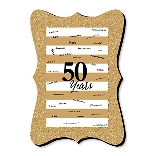 Big Dot of Happiness We Still Do - 50th Wedding Anniversary - Unique Alternative Guest Book - Anniversary Party Signature Mat