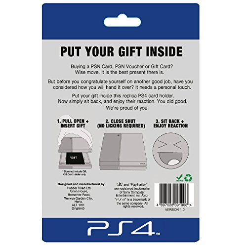 Replica Ps4 Console Gift Card Holder Computer And Video Games