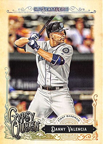 2017 Topps Gypsy Queen #15 Danny Valencia Seattle Mariners Baseball Card (Queen Valencia)
