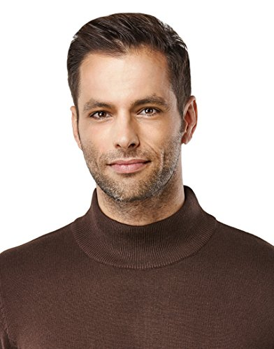 Vincenzo Boretti Men's Sweater with ribbed turtle-neck, slim-fit,brown,Large by Vincenzo Boretti (Image #3)