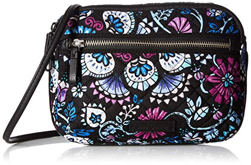 Vera Bradley womens Iconic RFID Little Crossbody, Signature Cotton, Bramble, One -