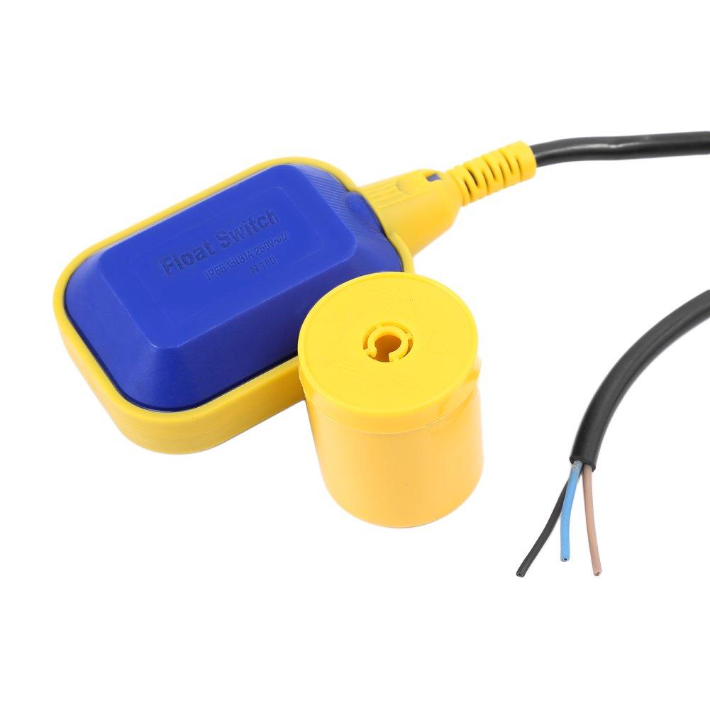 Interruptor Flotador Ajustable Automáticamente Interruptor de Nivel de Agua, Líquido Interruptor Flotador para Controlar y Proteger el Motor, Longitud del ...