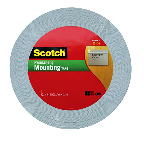 Foam 2 Side Tape - 3M 885682830653 Scotch 1/2-Inch by 36-Yard Double-Sided Foam Tape (4016), x 36 Yards 1/16-inch, Off- Off-White