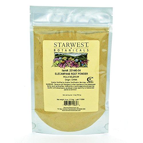 Elecampane Root Powder - Starwest Botanicals Elecampane Root Powder, 4 Ounces