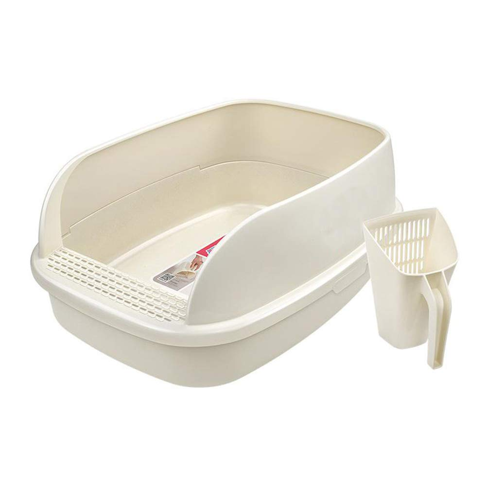 25x18x11in BYCWS Bread Cat Litter Box,Semiclosed Cat Toilet Large Rimmed Litter Pan,25x18x11in