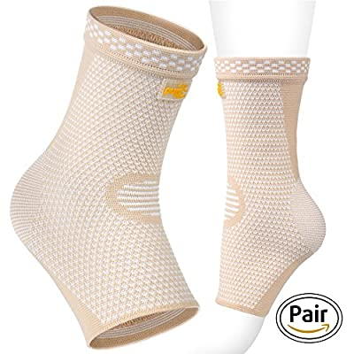 PURE SUPPORT Ankle Sleeve Brace Black Beige (Beige, X-Large) from PURE SUPPORT