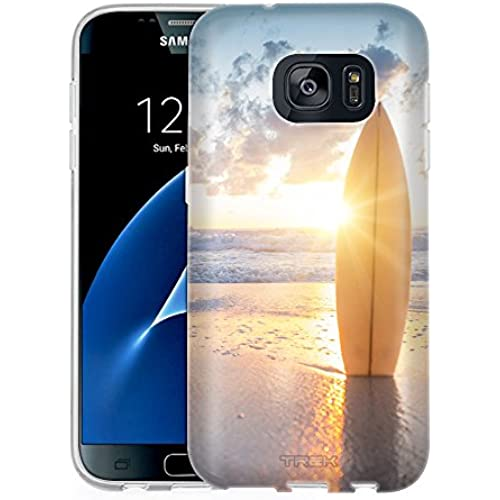 Samsung Galaxy S7 Case, Snap On Cover by Trek SurfBoard Sunset One Piece Slim Case Sales