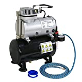 F2C TC-20T 1/5HP Pro Air Compressor Airbrush Kits W/6FT Hose and 3L Tank