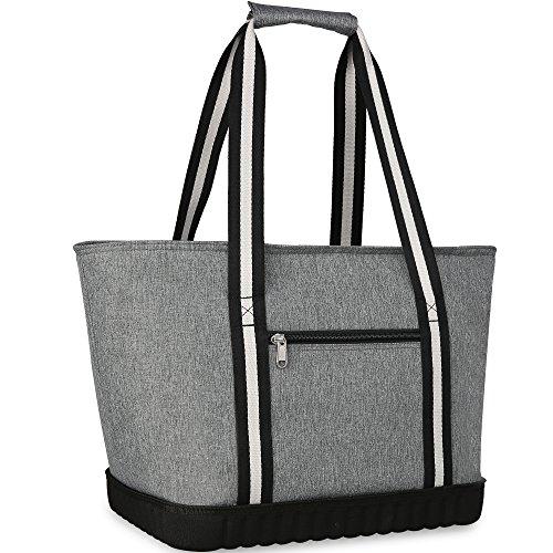 (VIGBAGNIA Cooler Bag Insulated 30-Can Soft Sport Tote Bag Fodable Snapbasket)