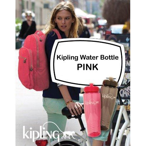 Kipling Water Bottle (Pink)