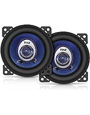 "2 PYLE PL42BL 2-weg coaxiale luidsprekers blauw 4"" 10,00 cm 100 mm diameter 180 watt rms 360 watt max voor autodeuren standaard opstelling, paar"