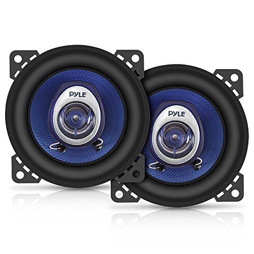 4″ Car Sound Speaker (Pair) – Upgraded Blue Poly Injection Cone 2-Way 180 Watt Peak w/Non-fatiguing Butyl Rubber Surround 110-20Khz Frequency Response 4 Ohm & 3/4 ASV Voice Coil – Pyle PL42BL