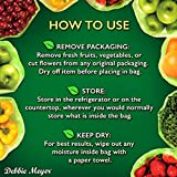 Debbie Meyer GreenBags 20-Pack (10M, 10L) – Keeps Fruits, Vegetables, and Cut Flowers, Fresh Longer, Reusable, BPA Free, Made in USA