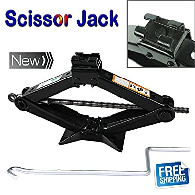 Newest 2 Ton Tonne Scissor Jack Lift Wind Up For Car Van Garage Home Emergency