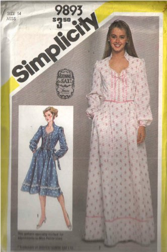 Vintage Simplicity 9893 Jessica Mcclintock for Gunne Sax Sewing Pattern Stand Collar Sweetheart Neckline Corset Laced Front Princess Bodice with Lace and Ribbon (Vintage Gunne Sax)