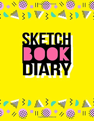 Sketch Book Diary: Graph Paper Notebook, 8.5 x 11, 120 Grid Lined Pages (1/4 Inch Squares)
