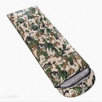 Alger Abajo saco de dormir camuflaje al aire libre pato blanco adulto abajo saco de dormir envuelto saco de dormir , , 600 grams of duck: Amazon.es: ...