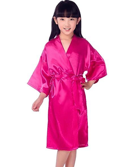 Hammia Vestido de Novia de Satén Robe Mujeres Corto Vestido de Dama de Honor Pijama de Seda Corto Puro del Traje del Kimono de Las Mujeres para el Banquete ...