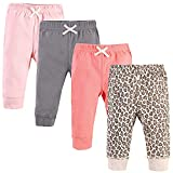 Touched by Nature Unisex Baby Organic Cotton Pants, Leopard, 3-6 Months