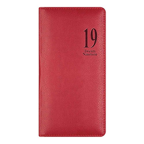 Letts Milano Torino Week to View Planner, Flexible Red Cover, English, 6-1/2 x 3-1/4 (CTO3SURD-2019)