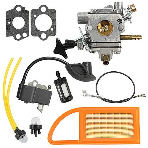 Mckin BR600 Carburetor + Air Filter + Ignition Coil fits Stihl BR500 BR550 BR 600 Backpack Blower Replace # C1Q-S183 (Br 600 Carburetor)