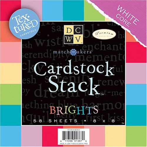 (Die Cut Match Makers Brights Cardstock Stack,8X8-Inches )