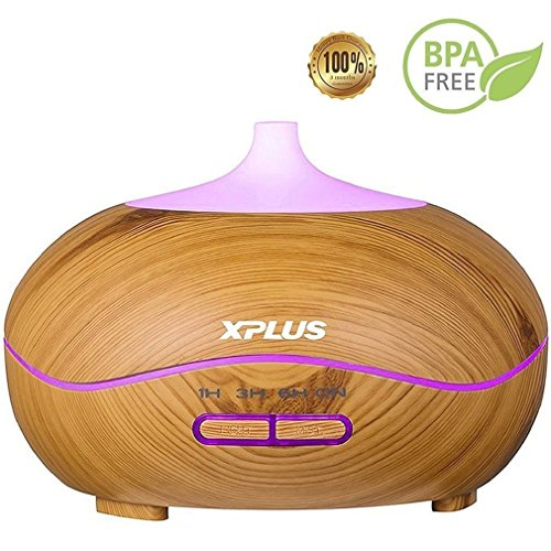 Price comparison product image Aroma Essential Oil Diffuser, XPLUS Essential Oil Diffusers for Essential Oils Large Room with Color LED Lights for Baby Office Home Bedroom Living Room Study Yoga Spa