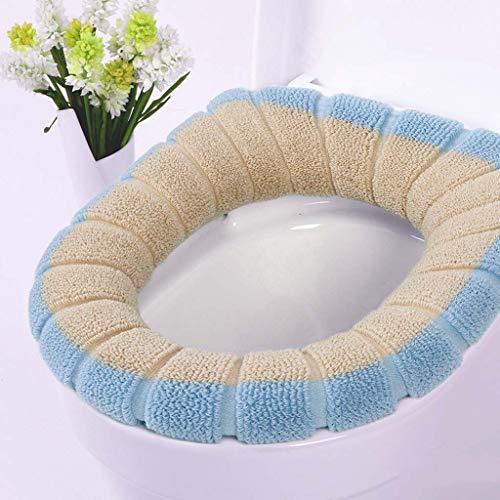Yuzhijie Tweekleurige tweekleurige pompoen thermische schattige badkamer heupstoel toilet deksel gewone ademend, 6