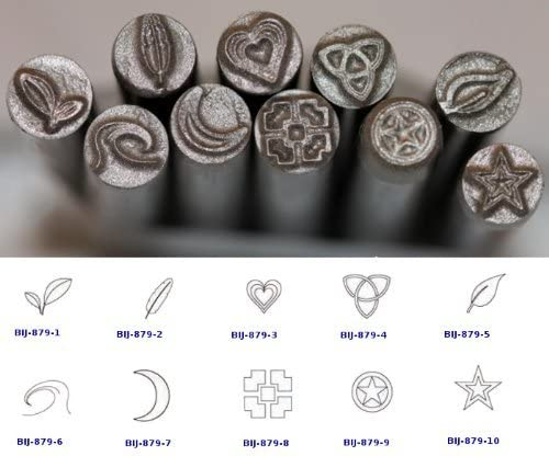 BIJ-879-1 KENT 5mm Precision Metal Punch Stamp 2 Leaves Design Sold Individually