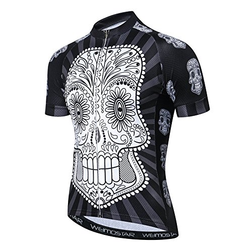 Cycling Jersey Men Team Bicycle Sports Shirts Comfortable Youth Mountain Bike Wear Black XL (Team Cycling Jersey Sports)