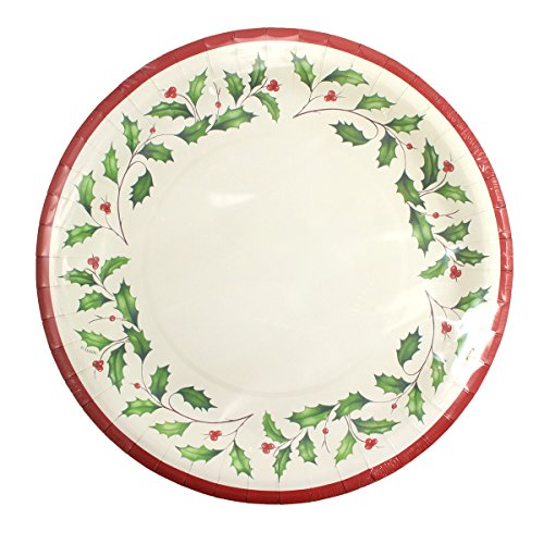 Lenox 8-in Holly Coated Salad/Dessert Plates, Set of 16