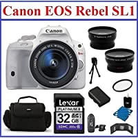 Canon EOS Rebel SL1 DSLR Camera with EF-S 18-55mm f/3.5-5.6 IS STM Lens Bundle- 11 Items: 32GB SDHC Memory Card, Card Reader, Camera Bag, Telephoto & Wide Angle Lenses, Spare Battery, Mini Tripod, Memory Card Wallet. 58mm UV Protection Filter and Lens Cleaning Kit Basic Intro Review Image
