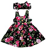 RJXDLT Baby Girls Dresses Flower Printed Skirt